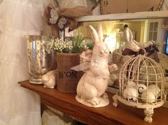 My Easter mantle