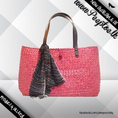 'LIFES A BEACH'   You roll with the best and nothing less...   #bag #handbag #pinkbag  http://www.peeptoe.lk/