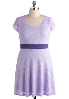 Fields of Lilac Dress in Plus Size, #ModCloth