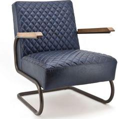 Afbeelding van Blauwe Marc fauteuil blauw - Eleonora