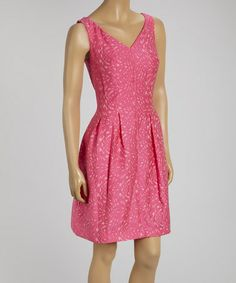 This Azalea Abstract Sleeveless V-Neck Dress by Taylor Dress is perfect! #zulilyfinds