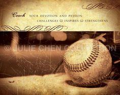 BASEBALL COACH Gift - Baseball Art - Baseball Coach Keepsake - Baseball Coach Thank You - Inspirational Art - Motivational Words - Sports by LifeVerseDesign on Etsy https://www.etsy.com/listing/44175747/baseball-coach-gift-baseball-art