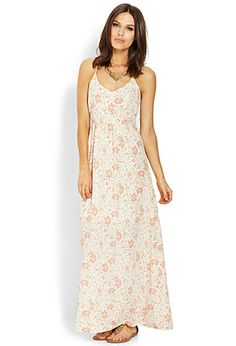 One of these days I'm going to sit down and make all these dresses Floral Cutout Maxi Dress | FOREVER21