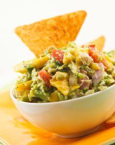 Mango crab guacamole - recipe make enough for a LARGE party, for smaller gathering I would cut recipe in half.  It was a big hit at my party!