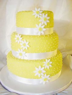 "Image detail for -Wedding Accessories Ideas: Yellow Wedding Cakes ""Cake Picture"""
