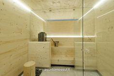 Lammi-Kivitalo Maja - Sauna Sauna Room, Scandinavian Home, Interior Lighting, Bathroom Lighting, Mirror, Furniture, Home Decor, Bathroom Light Fittings, Bathroom Vanity Lighting