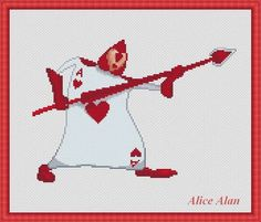 Cross Stitch Pattern Alice in Wonderland Card ACE of hearts designed by me, so you have a unique opportunity to get an exclusive product. Colors – 12 Fabric: 14 count White Aida Stitches: 135 x 95 Size: 9.64 x 6.79 inches or 24.49 x 17.24 cm Colours: DMC Fabric: 16 count White Aida Stitches: 135 x 95 Size: 8.44 x 5.94 inches or 21.43 x 15.08 cm Colours: DMC PDF Pattern includes: 1. Enlarged Chart of the Design in Color coded symbols and in Black and White symbols. 2. List of DMC threads…