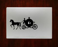 Cinderella Carriage Macbook Decal Stickers