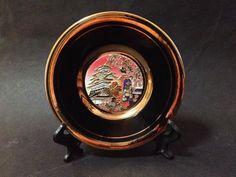 Pre Owned Japanese Art of Chokin Plate w/ Gold Gilt Detail of Japanese Scene Vintage Ceramic, Japanese Art, Beautiful Words, My Ebay, Decorative Plates, Copper, Scene, Ceramics, Detail