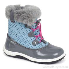 See Kai Run Ankle Boots Boots Gray Light Blue Girls' Abby Wp Toddler Preschool No.Qx