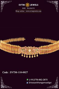 Eloquently designed flexible vaddanam or oddiyanam in yellow gold, which is studded with Kemp and real stones. This oddiyanam/vaddanam Length 36 and a half inches (includes back-belt). Bridal Hairstyle Indian Wedding, Indian Wedding Jewelry, Bridal Jewelry, Gold Jewelry, Jewelery, Gold Waist Belt, Vaddanam Designs, Waist Jewelry, Denim Clutch Bags