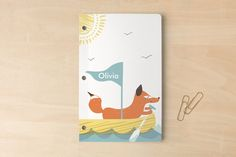 Ahoy Fox Day Planner, Notebook, or Address Book by feb10 design at minted.com