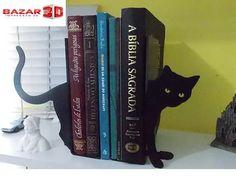 Suporte Aparador De Livros Bookend Apoio Gato Modelo 1 - R$ 39,90 em Mercado Livre