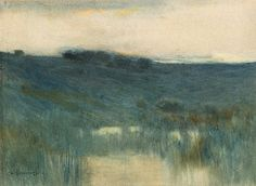 """Marsh Reflections,"" Charles Warren Eaton, watercolor, 11 x 15"" sight, private collection."