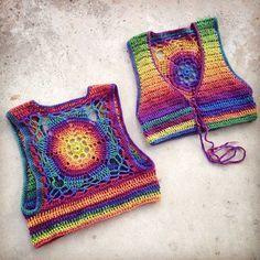 Crochet Pattern Luna Mandala Vest