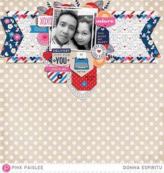 #papercraft #scrapbook #layout.  DonnaEspiritu-PenPals #pinkpaislee #scrapbooking #DIY #penpals