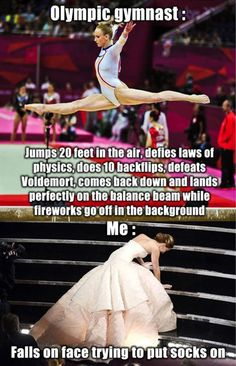 Differences between an olympic gymnastic and everybody else…