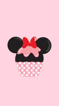 Minnie Mouse Cupcake iPhone Wallpaper