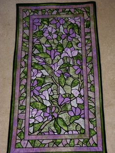 Stained Glass Quilted Wall Hanging by Mountainquiltworks on Etsy