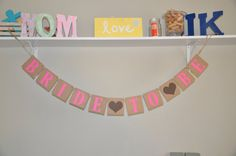 Bride to Be Banner - Pink and Brown on Etsy, $16.50