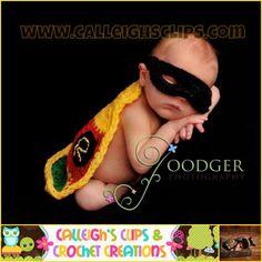 Crochet Pattern - Batman and Robin - Cuddle Critter Cape Set