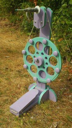 Rigid Heddle Weaving: DIY Spinning Wheel Finished!