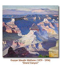 Painters of Grand Canyon - Thomas Moran, Gunnar Widforss, Oscar Berninghaus, Ernest Blumenschein, etc