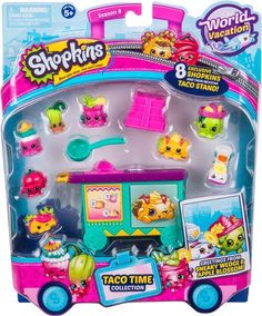 Shopkins Taco Time Taco Stand Collection Season 8 World Vacation Shopkins Gifts, Shopkins Guide, Dragon Toys, Toys R Us, Shopkins Playsets, Shopkins World Vacation, Shopkins Season 8, Shopkins And Shoppies, Gameroom Ideas