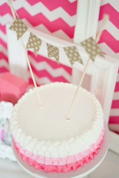 Hot Pink Chevron   Ombre Bridal Shower!