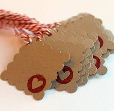 20 sweet tags to add to your Valentines Day treats! Perfect for a classroom party (I am happy to adjust the number you need...just convo me!) Made from sturdy kraft cardstock and stamped with a red heart. Measure 1 1/4 x 1 1/4 Set of 20.