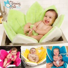 Blooming Bath baby bath is the cute and practical way to bathe babies! The BEST baby shower gift.
