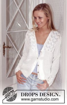 DROPS Cardigan in Muskat Free pattern by DROPS Design.