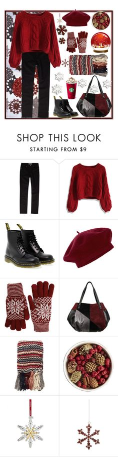 """Winter walk."" by natalyapril1976 ❤ liked on Polyvore featuring John Lewis, Chicwish, Dr. Martens, Accessorize, Fits, Dorothy Perkins, Pier 1 Imports, Waterford, Shishi and Winter"