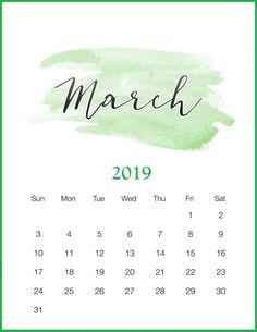 Free Printable 2019 Watercolor Calendar – The Cottage Market – School Calendar İdeas. Diy Calendar, School Calendar, Printable Calendar Template, Calendar Design, Calendar March 2018, Calendar Board, Calendar Wallpaper, Printables, College Planner