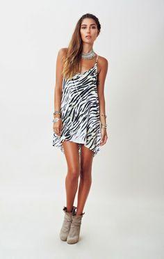 EXILE Zebra Print DRESS