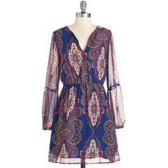 """ModCloth Boho Short Length Long Sleeve A-line Handcrafted Designs Dress"" found on Polyvore"