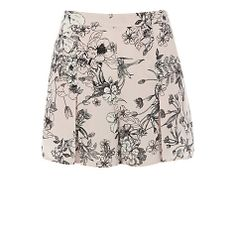 Buy Warehouse Drawn Floral 40's Shorts, Pink Online at johnlewis.com