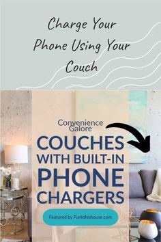 Convenience galore. Get a sofa with a built-in charging station. Sit on your couch, reach over and plug your phone in for a re-charge when needed. #usbcouch #usbsofa #funkyfurniture #funkthishouse
