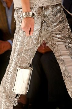 Gorgeous metalic bags from #RobertoCavalli in #MilanFashionWeek #SpringSummer2014
