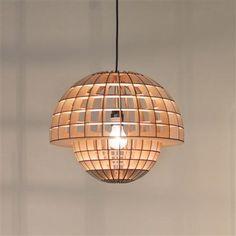 Lámpara de mesa o techo Mushroom de Massow Design, crudo