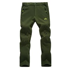 Introducing Modern Fantasy Mens Waterproof UV Elastic Fleece Outdoor Climbing Pants Army Green Size US M. Great Product and follow us to get more updates!