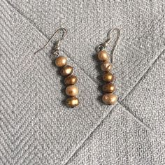 Gold Stone Dangle Earrings These boutique earrings can be worn with just about everything. Neutral and subtle...a must have. Jewelry Earrings
