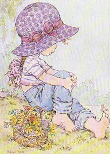 by Sarah Kay Sarah Key, Holly Hobbie, Sara Key Imagenes, Cute Images, Cute Pictures, Illustrations, Illustration Art, Coloring Books, Coloring Pages