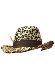 e3e34f93329 Plush Animal Print Cowboy Hat Western Hats