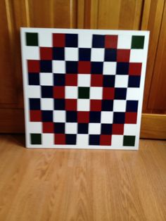 2 X 2 Mini barn barn quilt I made & sold- donated to Casey & Marc's adoption fund!