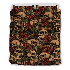 Are you looking for unique bedding sets for adults? We got you covered. All of our bedding sets have unique designs such as gothic bedding sets, skull bedding sets and more. Our bedding sets are super-soft, comfortable, and perfect for any season. Each bedding set comes with a duvet cover and 2 pillow covers. Blue Bedding Sets, Queen Bedding Sets, Gothic Bed, Bed Sheets, Duvet Covers, Unique Bedding, Fabric, Skull, Color