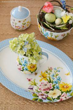 Shabby Chic-Stil blau Porzellan Mehrfarbig 2.300x30.000x24.000 cm Katie Alice Creative Tops English Garden Tortenheber mit Porzellan-Griff