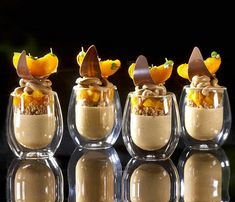 "Almond Praline Mousse, White Chocolate Dried Apricot Streusel, Apricot Compote, Milk Chocolate Whipped Ganache Verrines , recipe in my new Book ""Bachour Chocolate"" now in Pre Order at @amazon @savour_store @chefsconnection #bachour #bachourchocolate #bach 