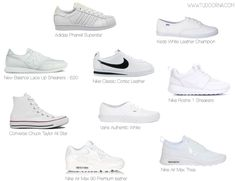 All White Shoes, White Shoes Outfit, White Nike Shoes, White Tennis Shoes, All White Trainers, Best White Sneakers, Sneakers Fashion, Fashion Shoes, Shoes Sneakers