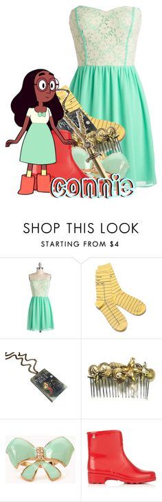 """""""Connie Maheswaran from Steven Universe"""" by magykgirlz ❤ liked on Polyvore featuring Forever 21, Meduse and S.W.O.R.D."""